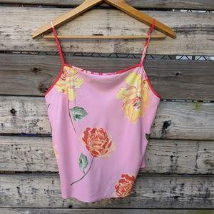 Victoria's Secret Pink Floral Camisole Top Size L